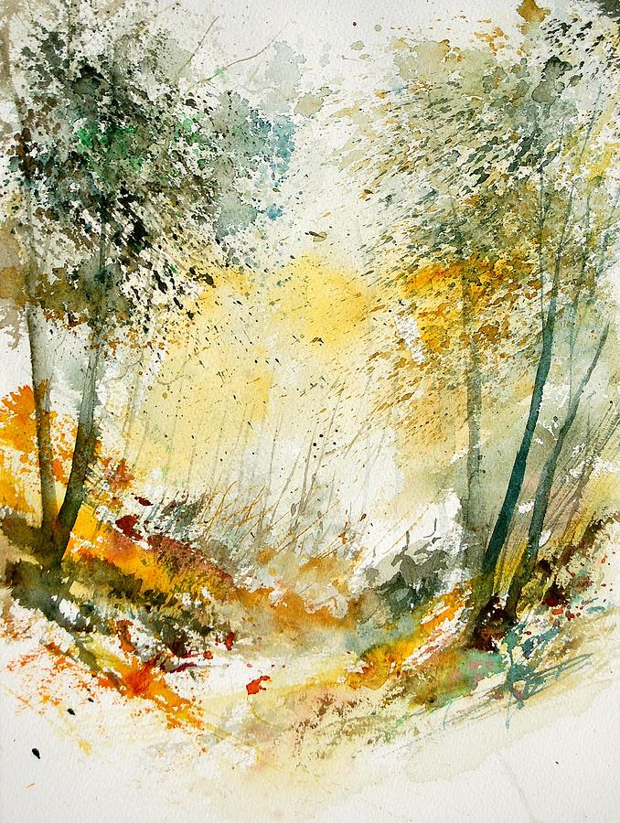 Tree Painting - Watercolor  908021 by Pol Ledent