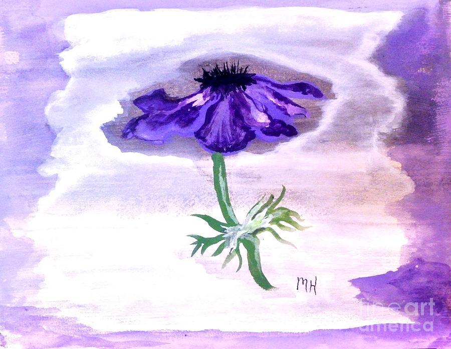 Painting Painting - Watercolor Anomone by Marsha Heiken
