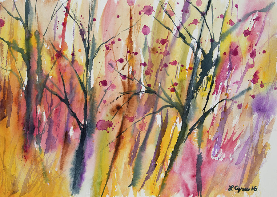 Forest Painting - Watercolor - Autumn Forest Impression by Cascade Colors
