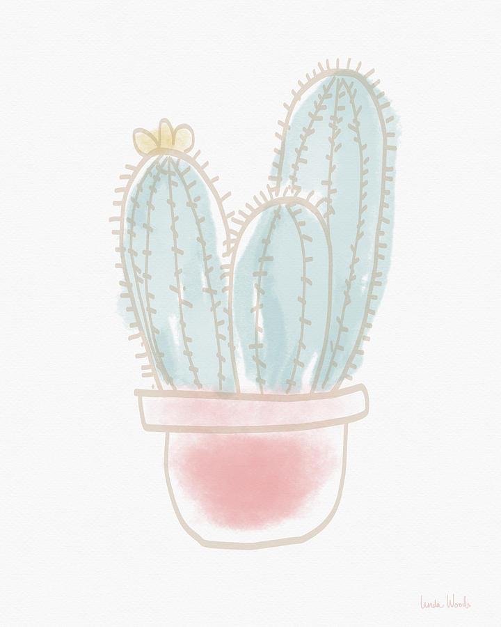 Cactus Painting - Watercolor Cactus- Art by Linda Woods by Linda Woods
