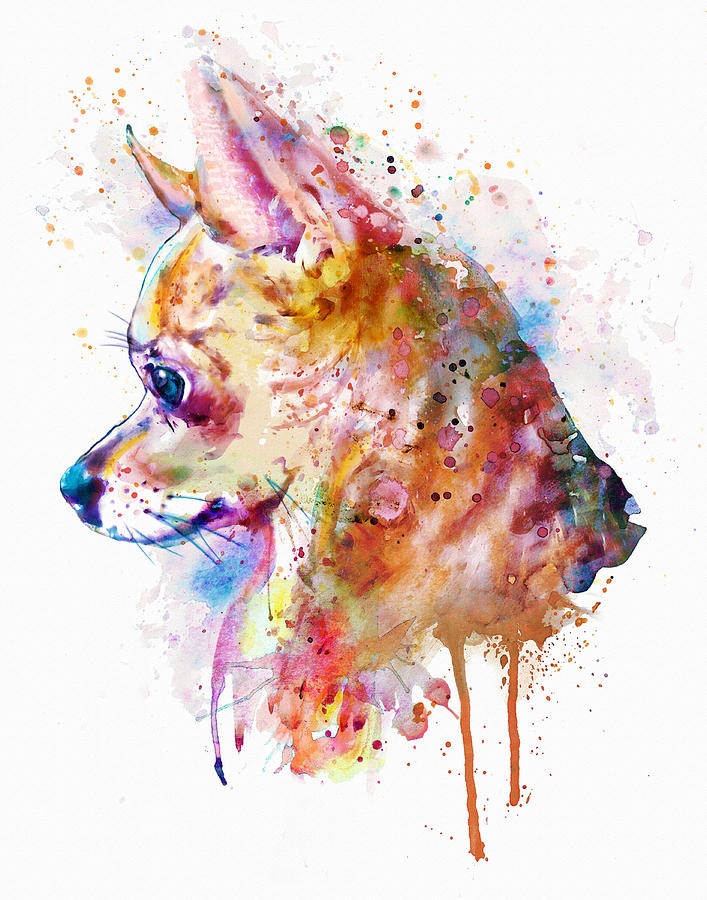 Chihuahua Painting - Watercolor Chihuahua  by Marian Voicu