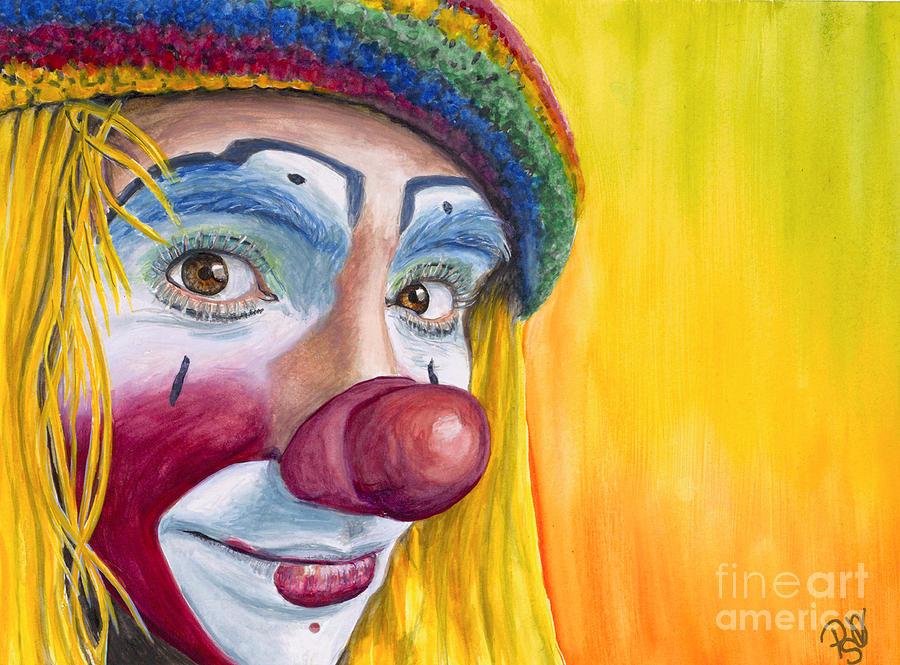 Daniel Flores Painting - Watercolor Clown #22 Daniel Flores by Patty Vicknair