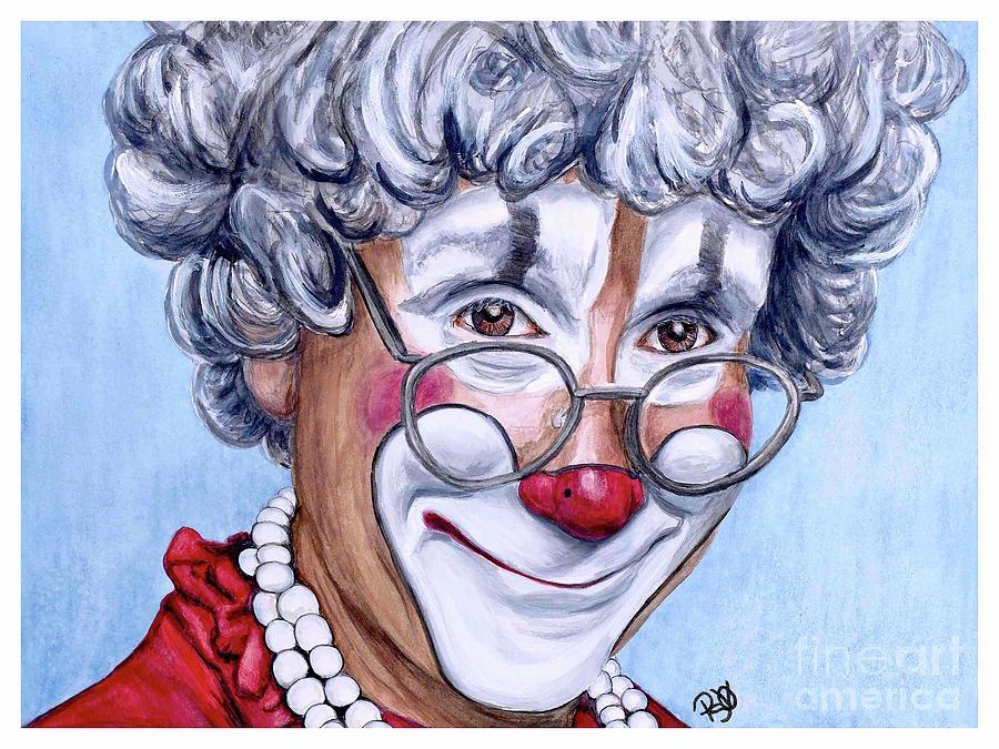 Watercolor Clown #27 Barry Lubin by Patty Vicknair