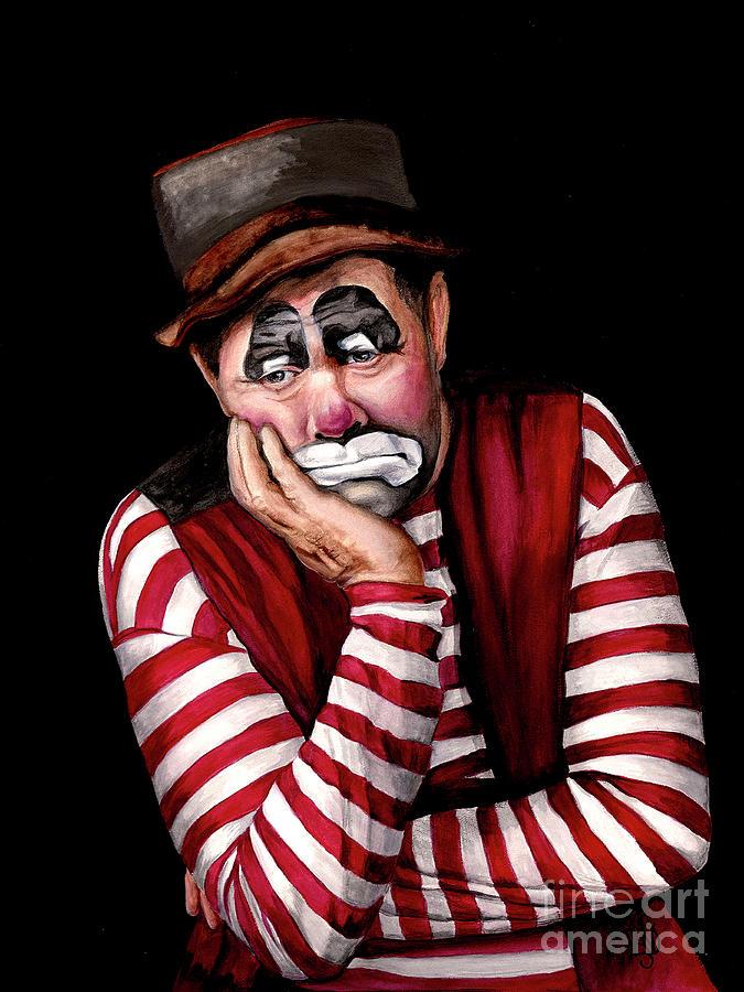 Watercolor Clown #28 Jim Howle by Patty Vicknair