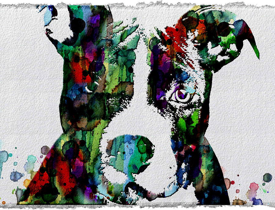 Watercolor dog art prints and posters painting by robert r for Posters art prints