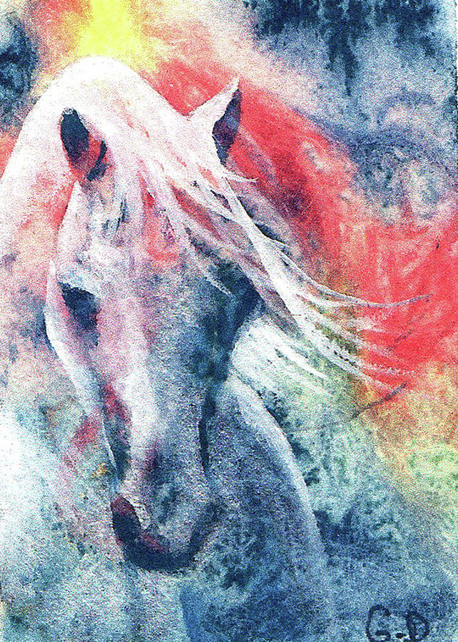 Watercolor Horse by Gerry Delongchamp