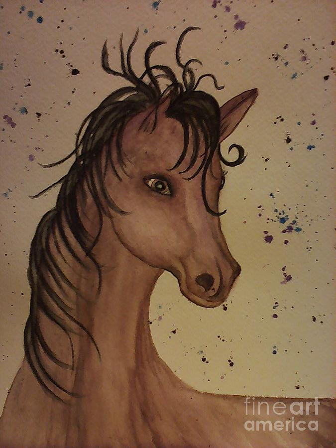 Horse Painting - Watercolor Horse by Ginny Youngblood
