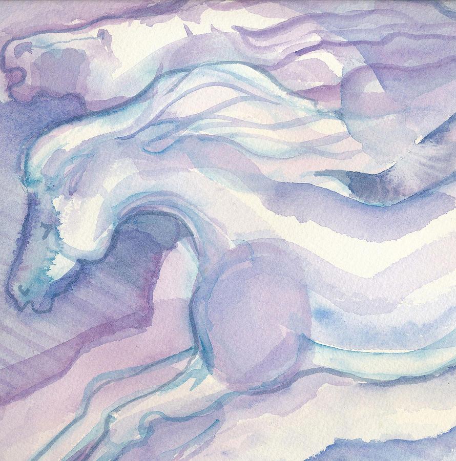 Watercolor Horses Painting - Watercolor Horses II by Linda Kay Thomas