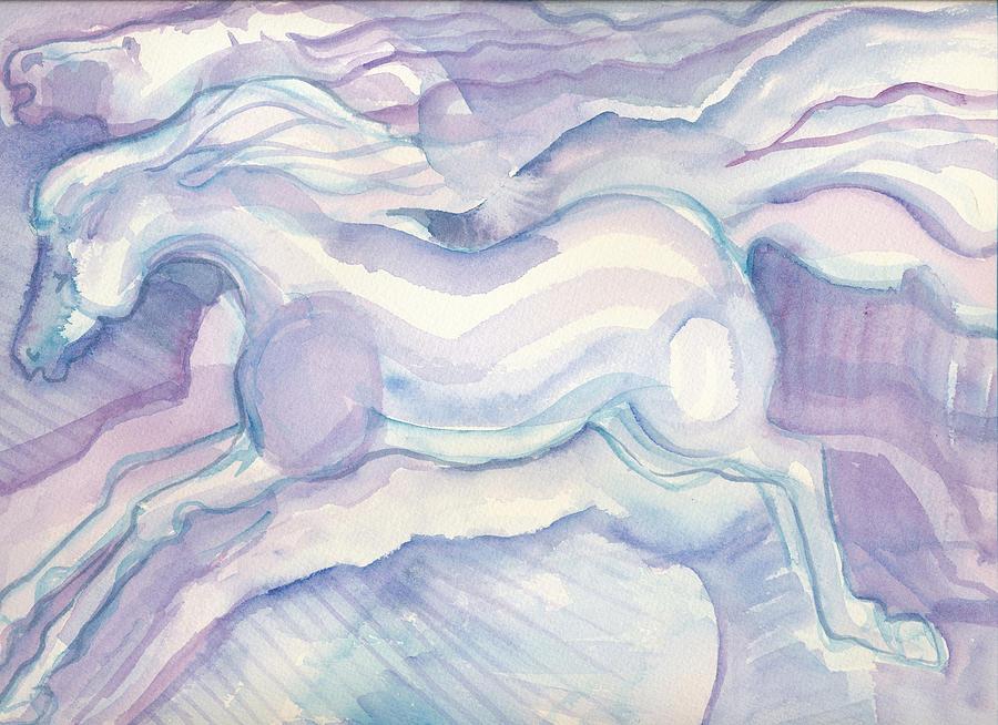 Watercolor Horses Painting - Watercolor Horses by Linda Kay Thomas