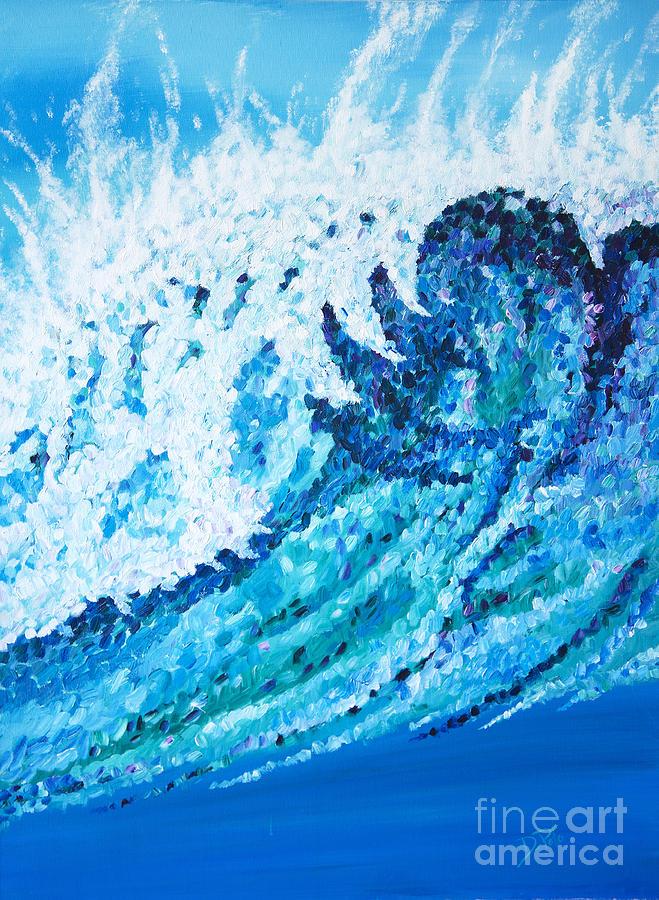 Ocean Painting - Watercolor by JoAnn DePolo