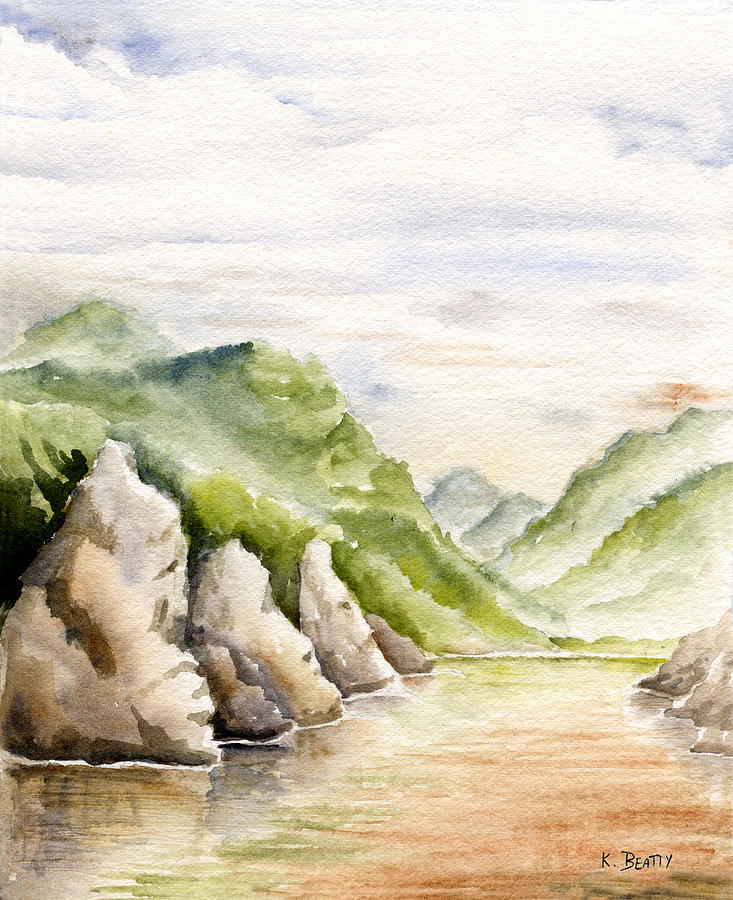Watercolors Painting - Watercolor Landscape Plein Air by Karla Beatty