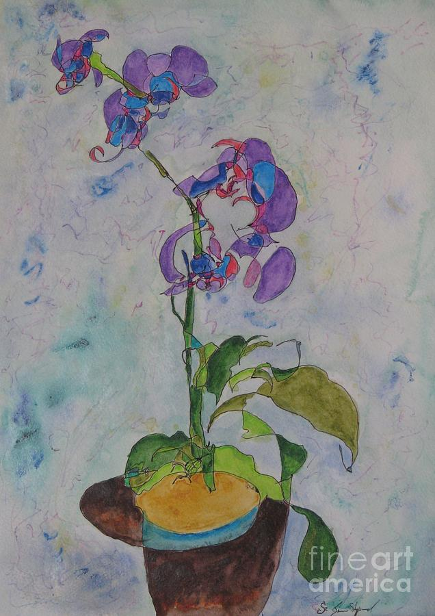 Watercolor Orchid Painting by James Sheppard