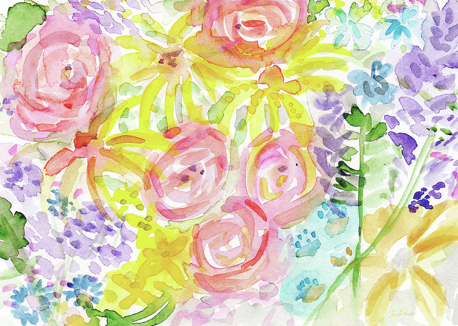 Roses Painting - Watercolor Rose Garden- Art By Linda Woods by Linda Woods
