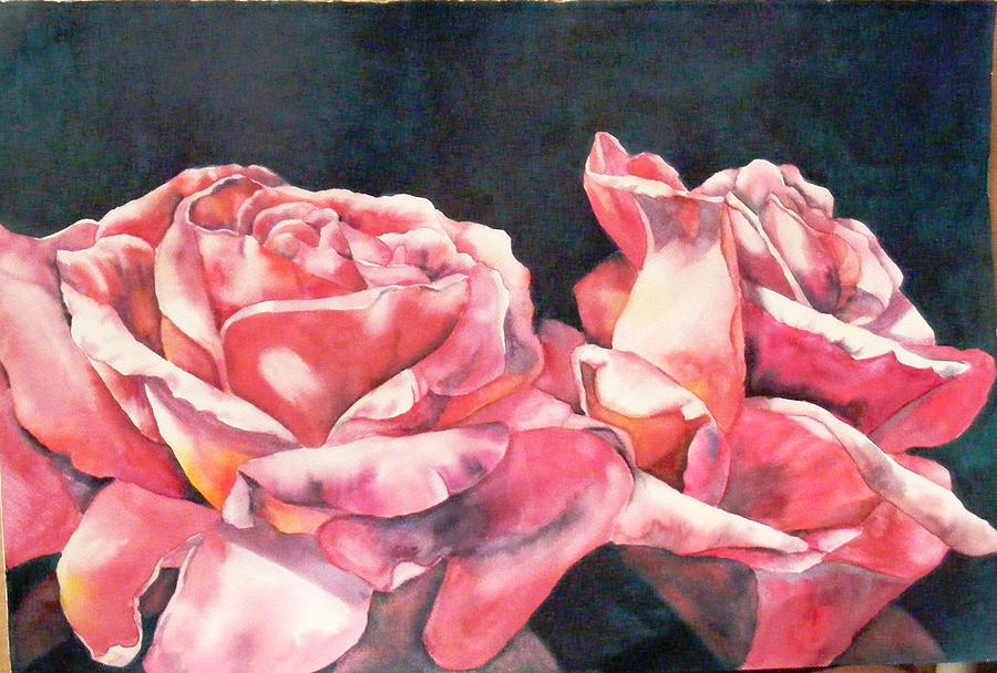 Roses Painting - Watercolor Roses by Diane Ziemski