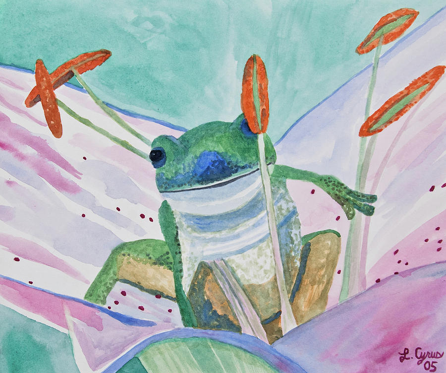 Tree Frog Painting - Watercolor - Tree Frog by Cascade Colors