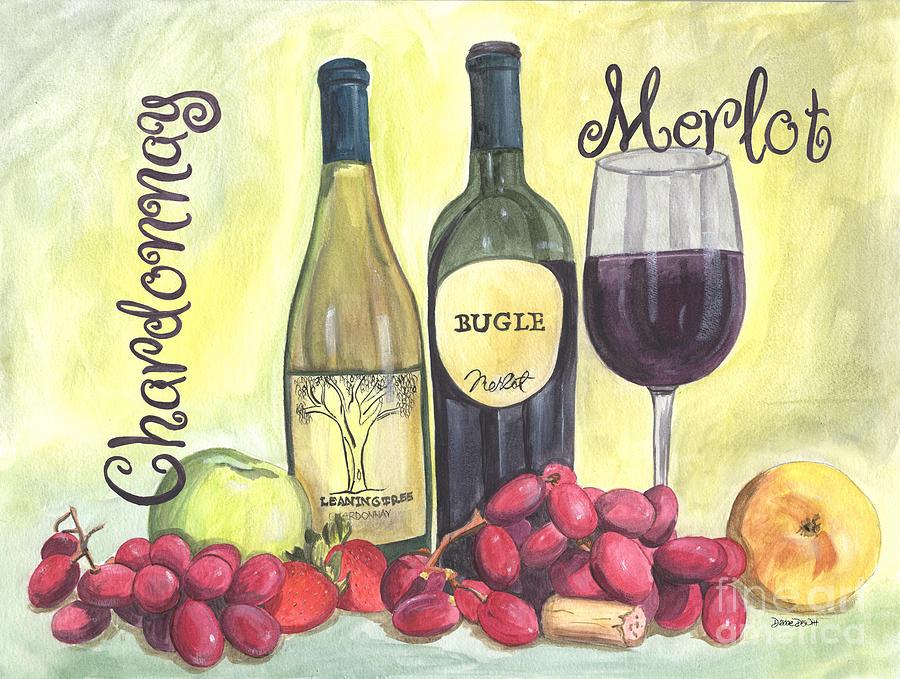 Wine Painting - Watercolor Wine by Debbie DeWitt