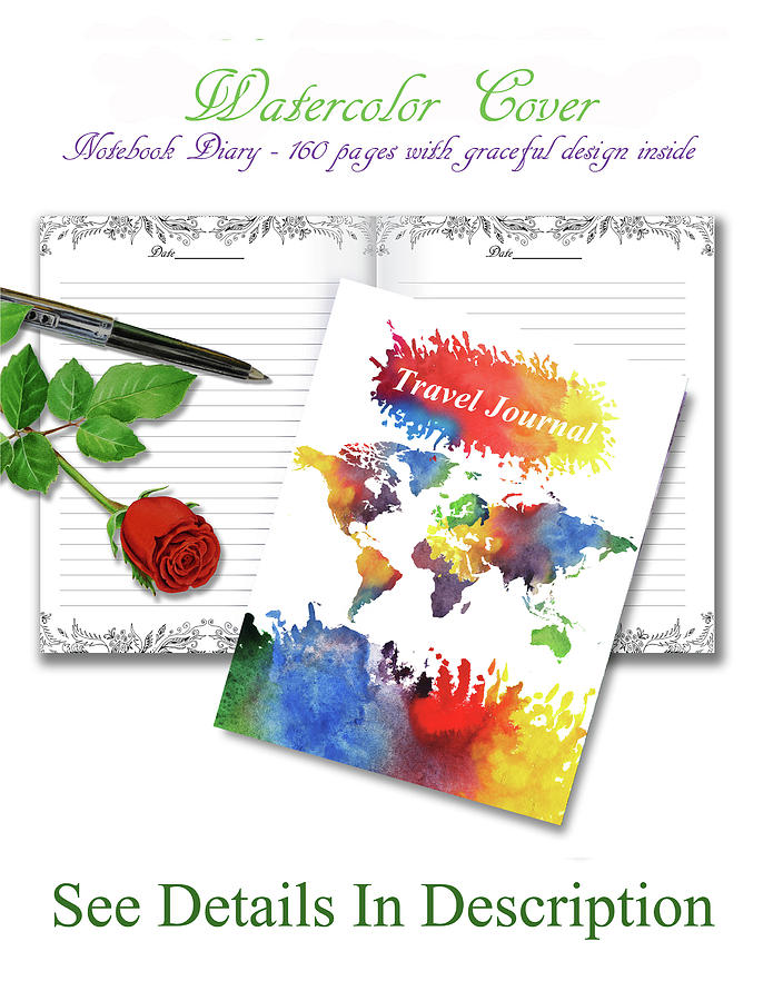 Watercolor world map travel journal mixed media by irina sztukowski world mixed media watercolor world map travel journal by irina sztukowski gumiabroncs Choice Image