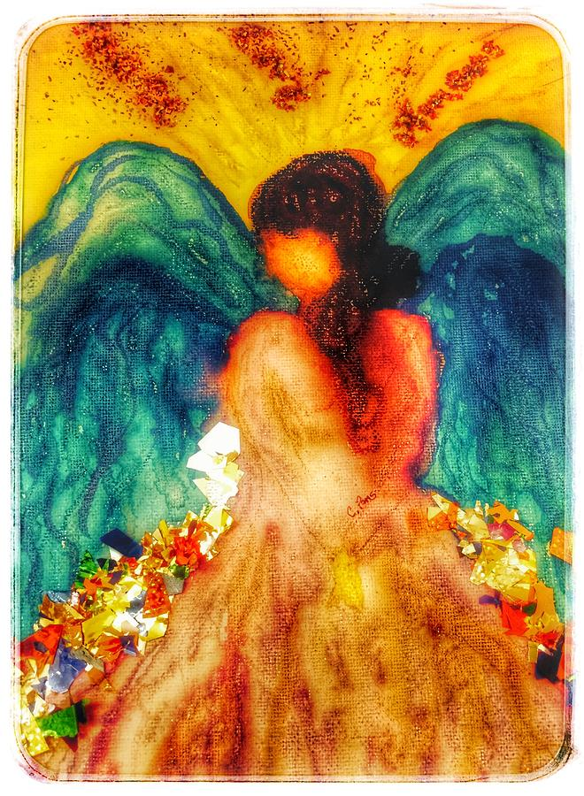 Watercolour angel by Christine Paris