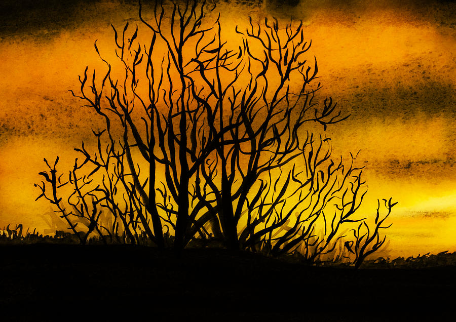 Landscape Painting - Watercolour Sunset by Svetlana Sewell