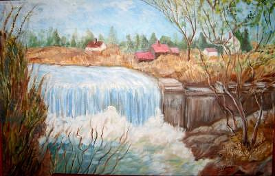 Waterfall 1 Painting by Joseph Sandora Jr