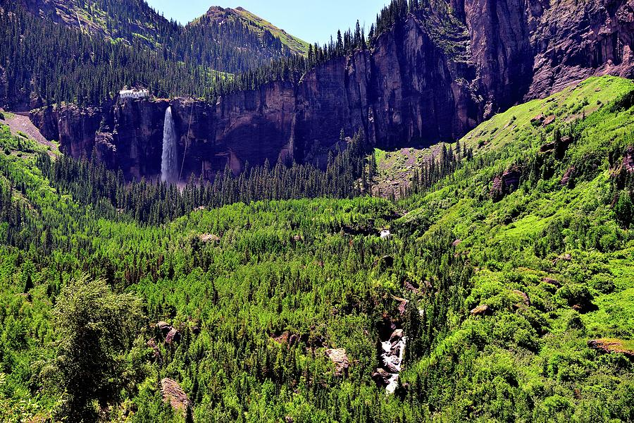 Colorado Photograph - Waterfall At Telluride, Colorado by Gerald Blaine