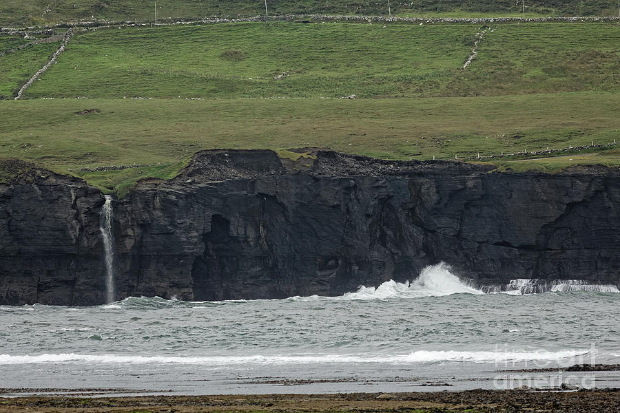 Waterfall Photograph - Waterfall At The Cliffs Of Moher by Natural Focal Point Photography