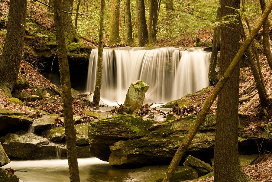 Waterfall Photograph - Waterfall At The Ruins by Douglas Barnett