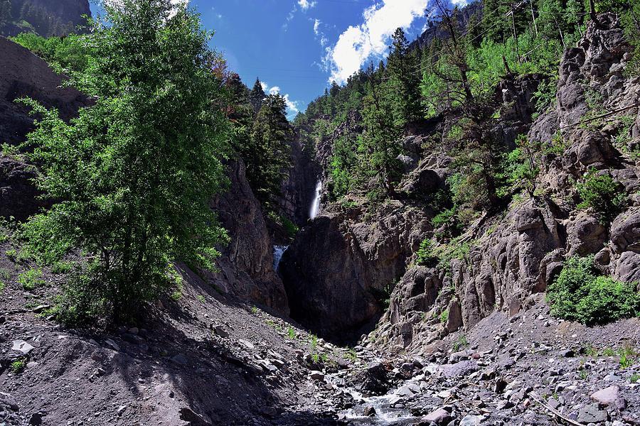 Yankee Boy Basin Photograph - Waterfall At Yankee Boy Basin by Gerald Blaine