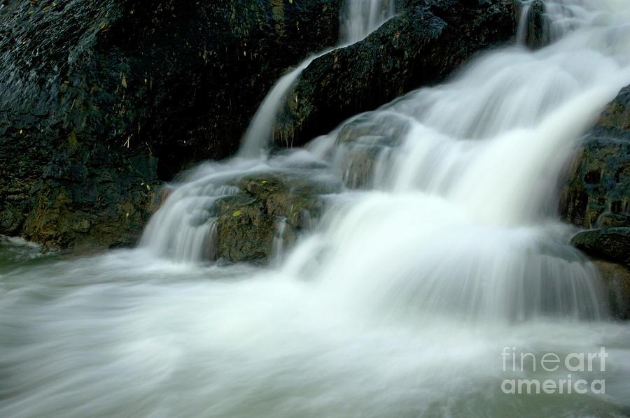 Asia Photograph - Waterfall Cascading Into Li Jiang River by Sami Sarkis