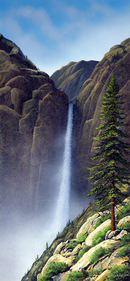 Wilderness Painting - Waterfall by Frank Wilson