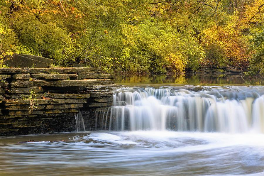 3scape Photograph - Waterfall Glen, Lemont, Il by Adam Romanowicz