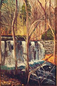 Landscape Painting - Waterfall by Glynnis Sorrentino