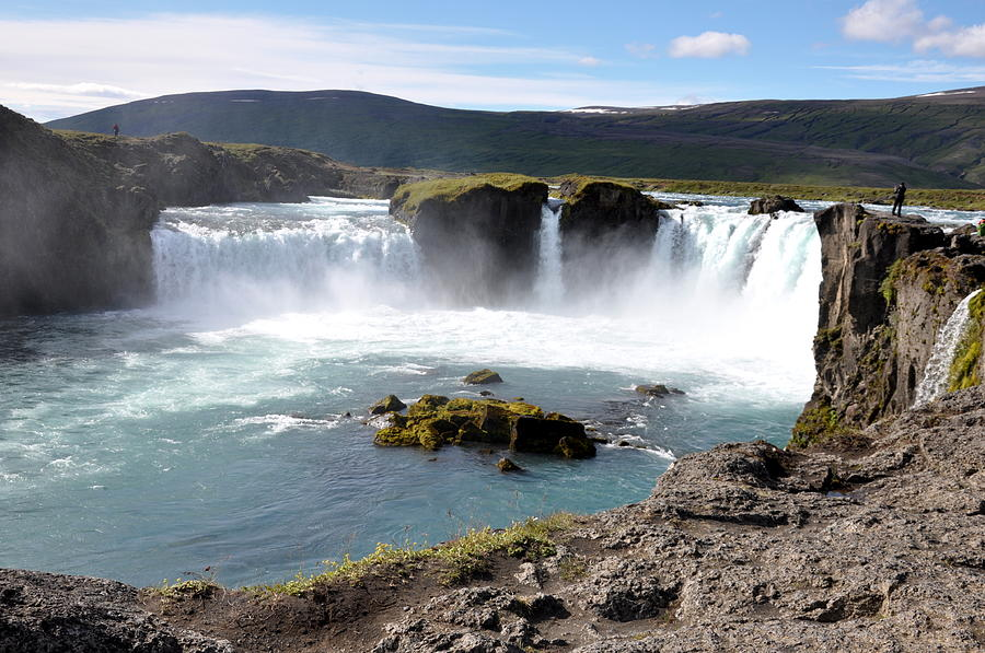 Waterfall Photograph - Waterfall - Godafoss by Ambika Jhunjhunwala