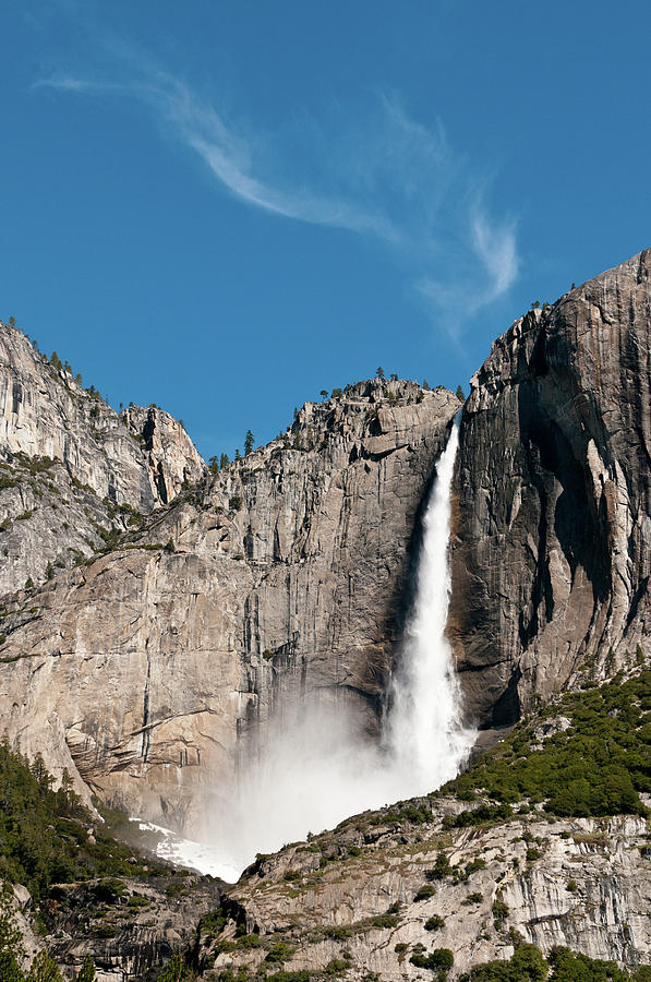 Vertical Photograph - Waterfall by Ida C. Shum