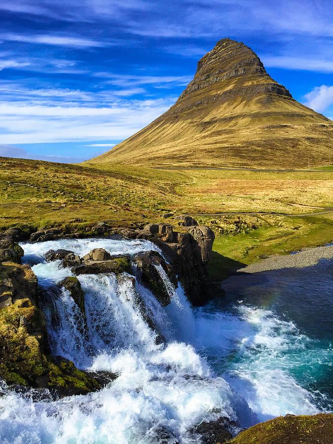 Iceland Photograph - Waterfall in Iceland Kirkjufellfoss by Matthias Hauser