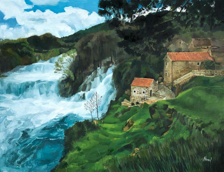 Waterfall in Krka by Maria Arnaudova