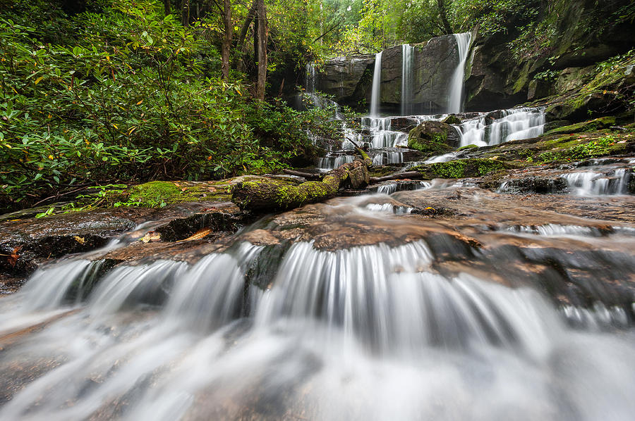 Cascade Photograph - Waterfall Jocassee Gorges Upcountry South Carolina by Mark VanDyke
