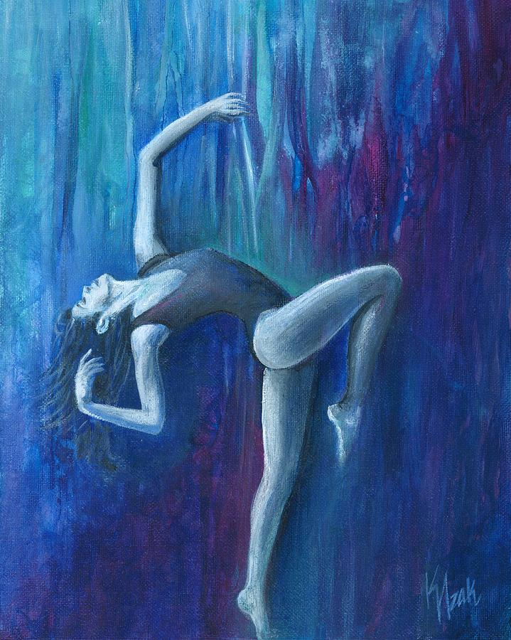 Dancer Painting - Waterfall by Kristine Izak