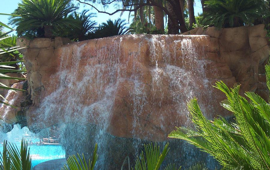 Waterfall Photograph - Waterfall Las Vegas Nevada by Alan Espasandin