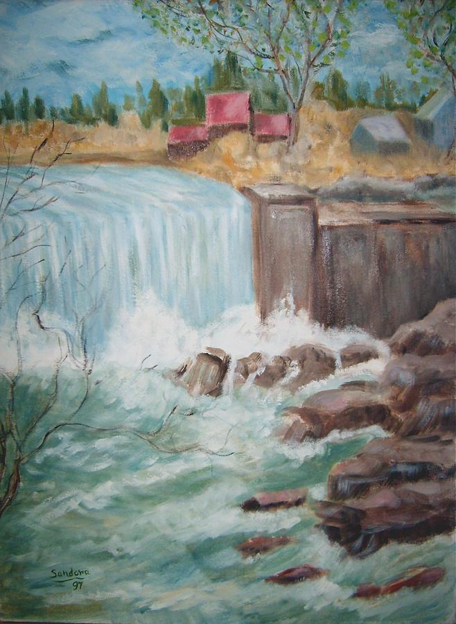 Waterfall Lw Painting by Joseph Sandora Jr