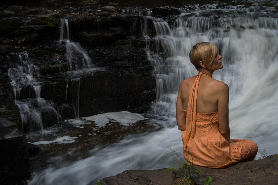 Waterfall Photograph - Waterfall Muse by Tim Beebe