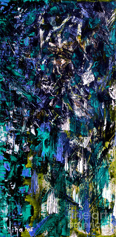 Abstract Paintings Painting - Waterfall Of Wishes by Nina Nabokova