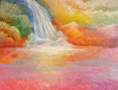 Waterfall Painting - Waterfall by Patricia Halstead