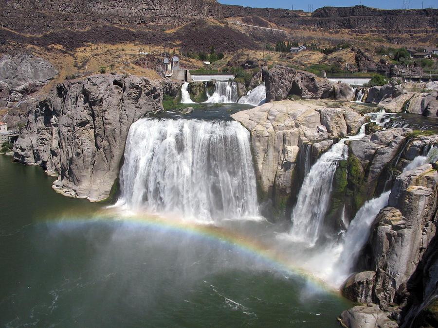 Waterfall Photograph - Waterfall Rainbow by Ty Nichols