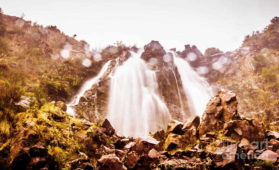 Scenic Photograph - Waterfall Scenics  by Jorgo Photography - Wall Art Gallery
