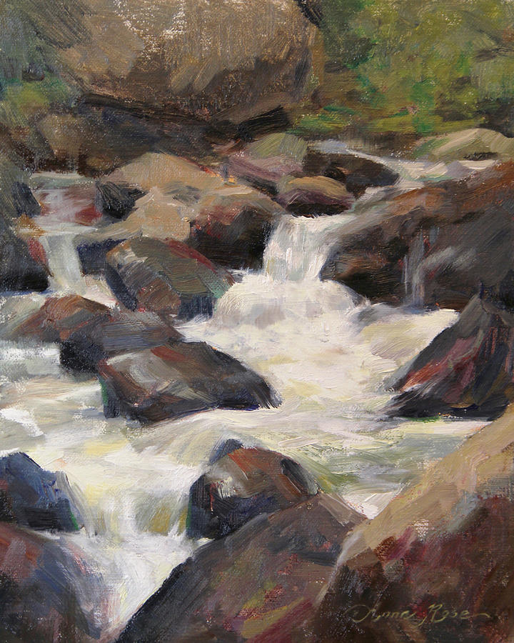 Landscape Painting - Waterfall Study by Anna Rose Bain
