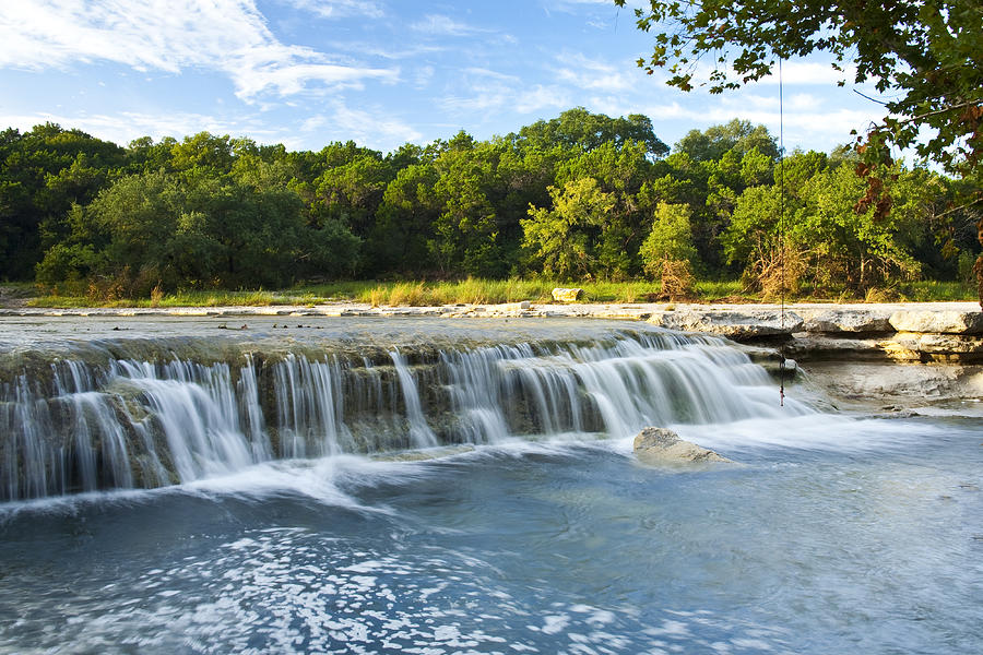 Texas Photograph - Waterfalls At Bull Creek by Mark Weaver