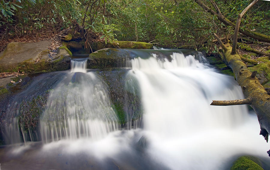 Waterfall Photograph - Waterfalls In Smoky Mountain National Park by Brendan Reals