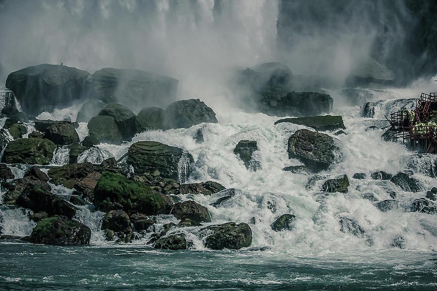 Water Photograph - Waterfalls on rocks by Maxwell Dziku