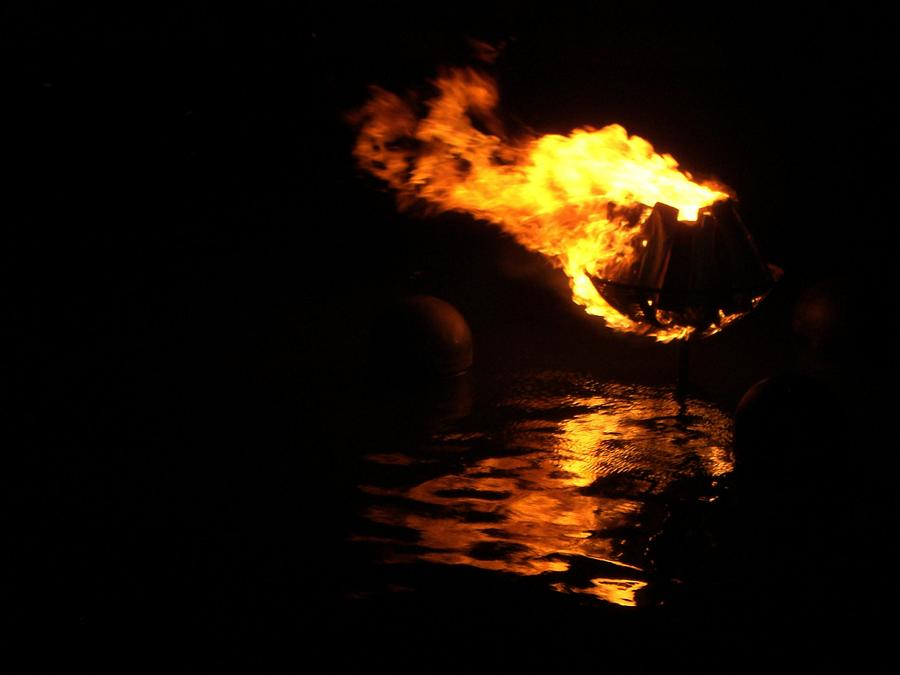 Brazier Photograph - Waterfire 2007-1 by Nancy Ferrier